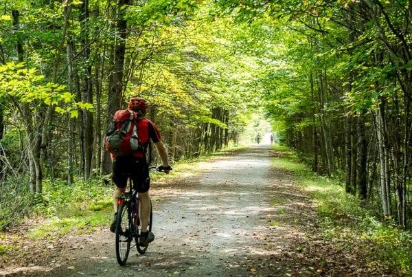 Biking Le P'tit Train du Nord in the Laurentians