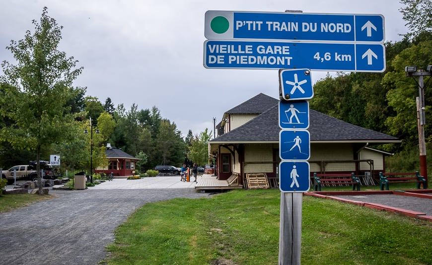 Biking Le P'tit Train du Nord in the Laurentians