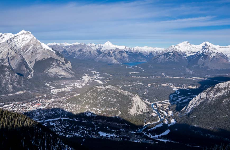 You can see Lake Minnewanka from Sulphur Mountaink
