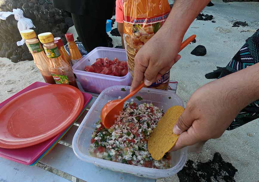Fresh ceviche in the Baja