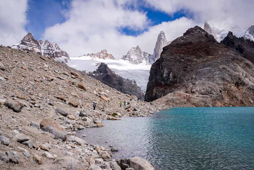 Hiking Beside The Lake To Get The Best View Of The Fitz Roy Towers