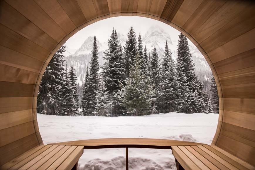 Inside The Sauna At Island Lake Lodge