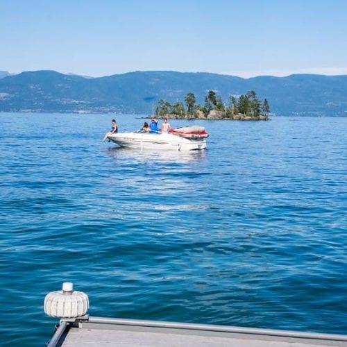 Boating on Flathead Lake in Montana