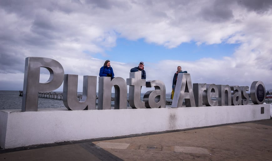Photo Op At The Punta Arenas Sign