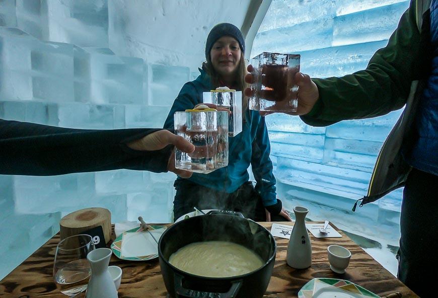 Cheese fondue at the Ice Star Resort, Kiroro Ski Resort