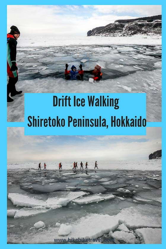 Drift ice walking off the Shiretoko Peninsula in Hokkaido