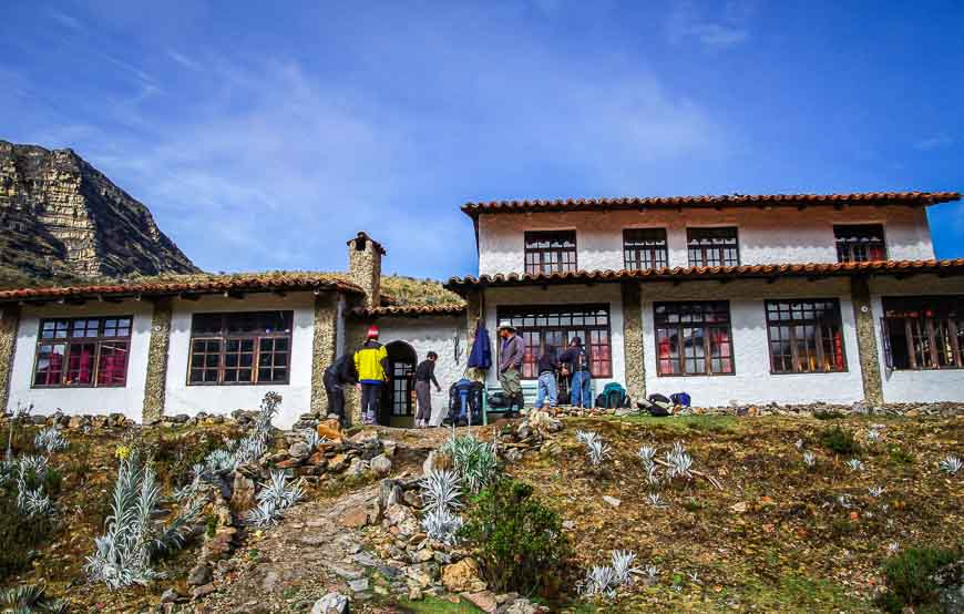 The hostel looked very welcoming on a blue sky day on the Sierra Nevada del Cocuy trek