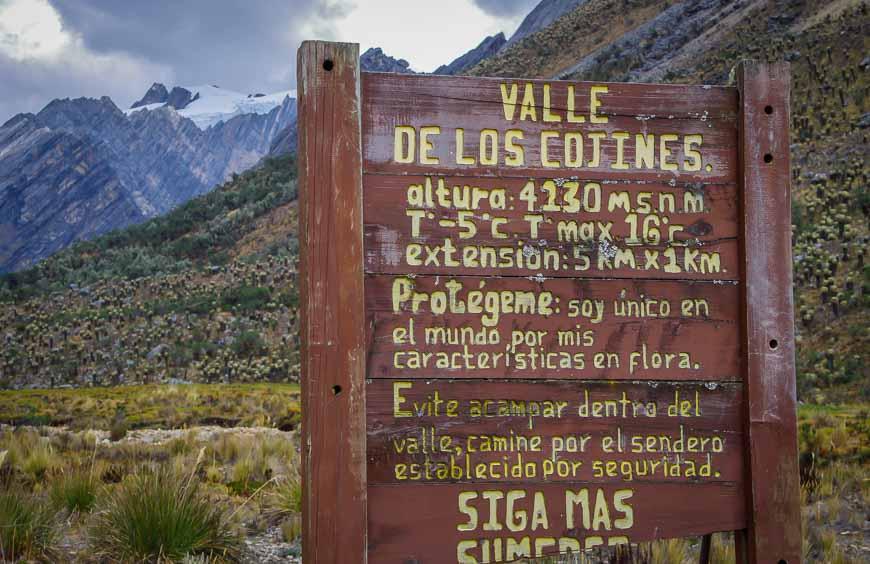 Next - Traversing the Valle de los Cojines