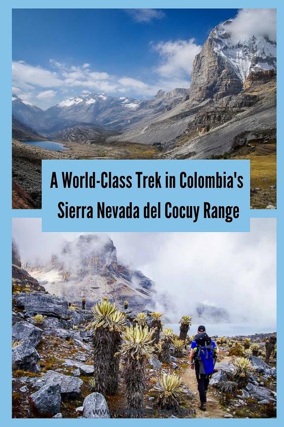 A world-class trek in the Sierra nevada del Cocuy range