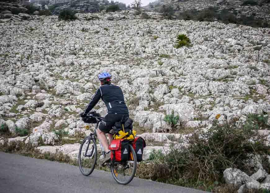 Cycling through El Torcal National Park