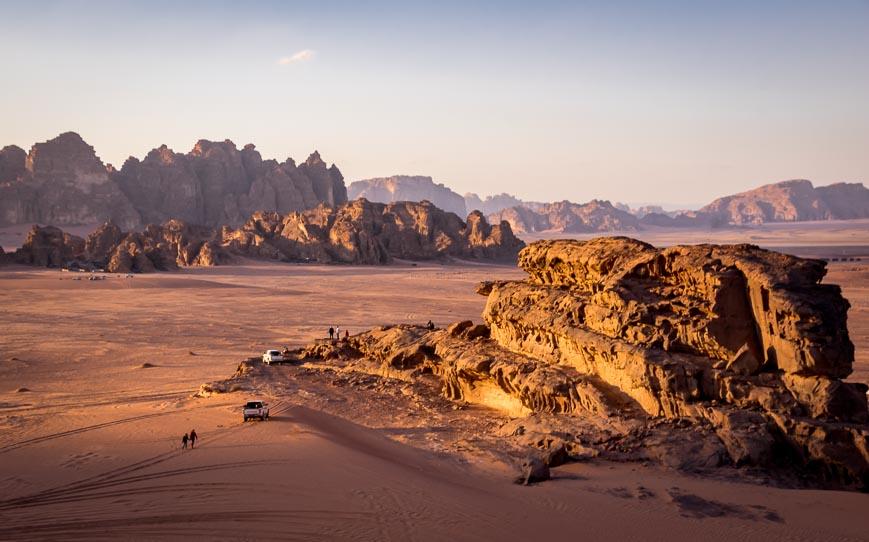 Catching the golden hour in Wadi Rum