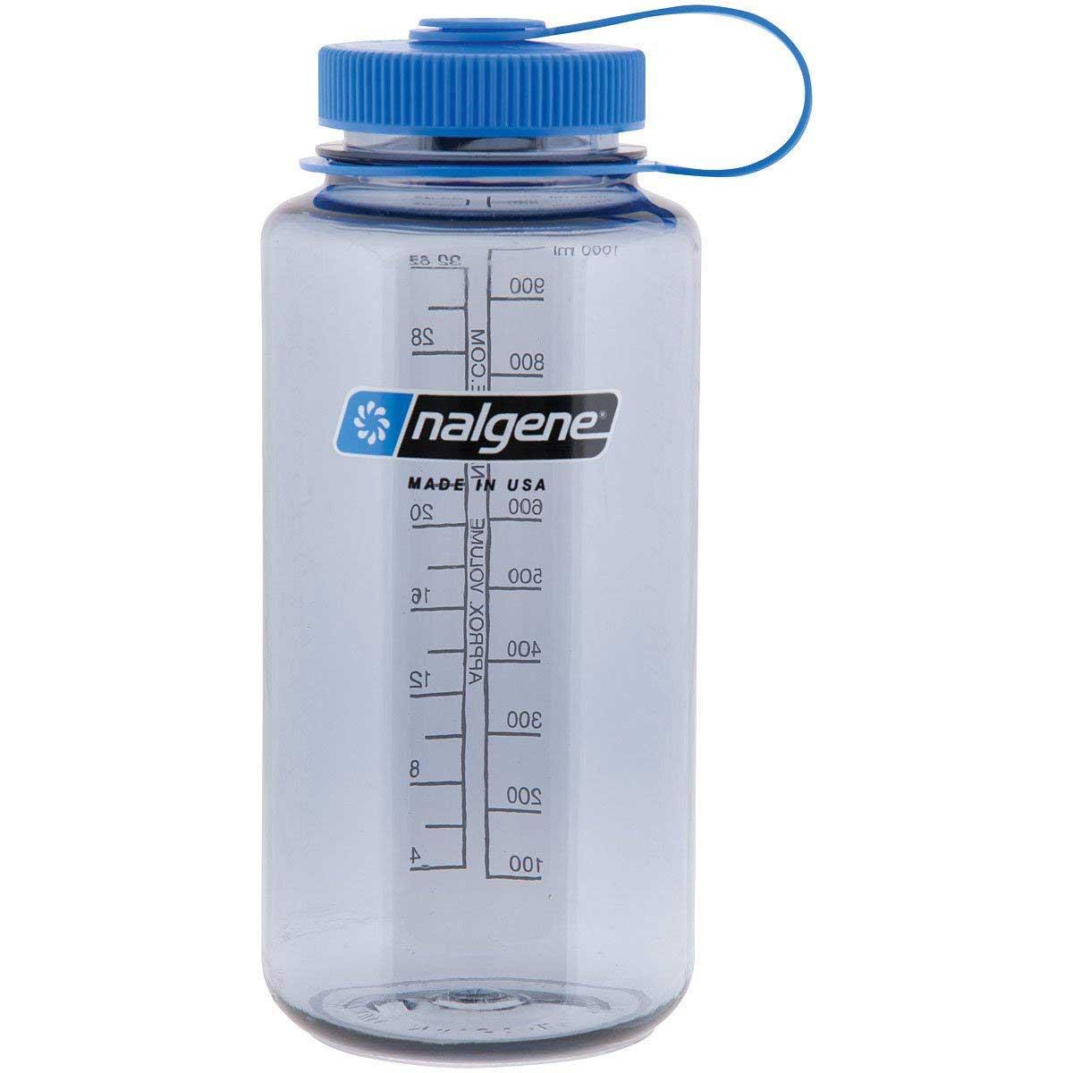 Nalgene Plastic Bottle Wide Mouth Grey