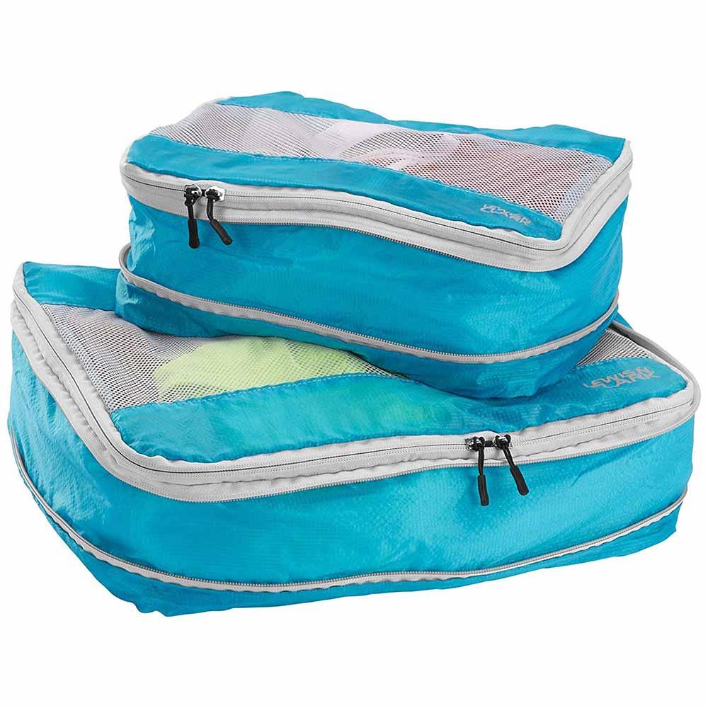 Lewis N. Clark Electrolight Packing Cube Set 2-Pack, Bright Blue