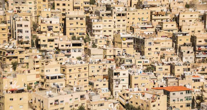 High density housing in Amman