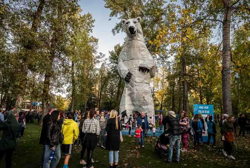 The polar bear display was a popular one when I visited Beakerhead