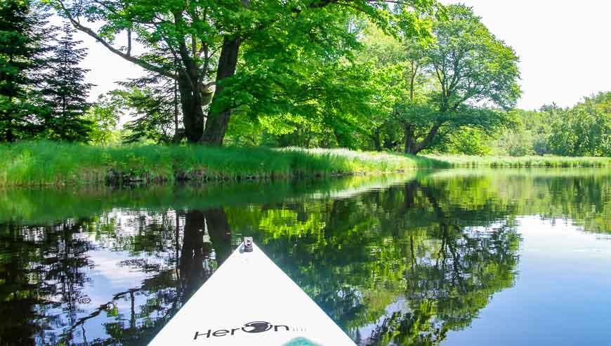 Paddling on the Mersey River in Kejimkujik National Park