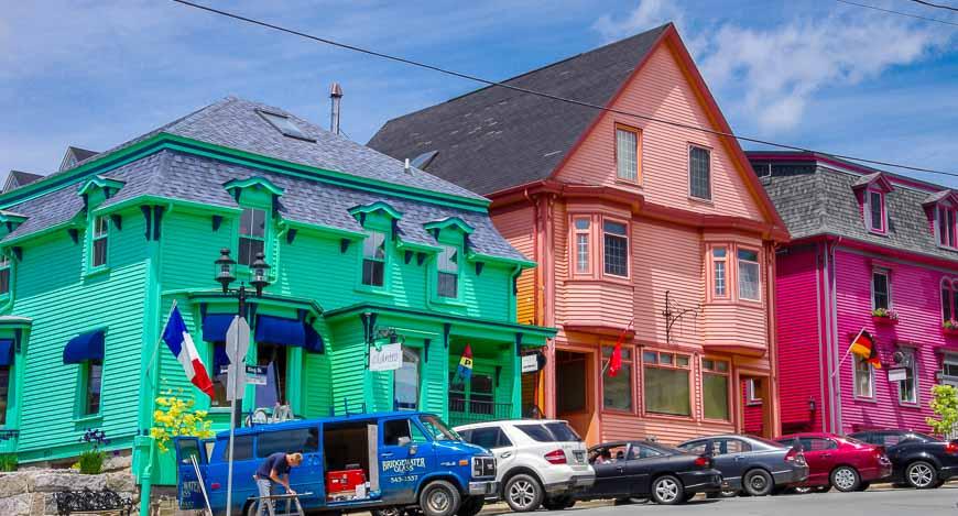 A shock of colourful homes in Lunenburg, Nova Scotia