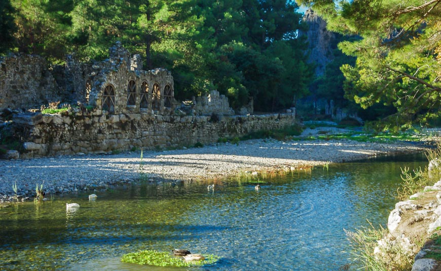 A very scenic early morning walk through the ruins of Olympos