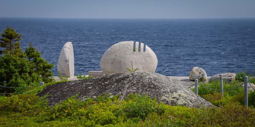 The Swiss Air Memorial near Peggy's Cove