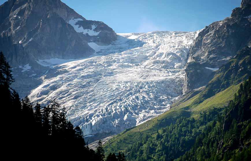 You see the Glacier du Trient on the Tour du Mont Blanc