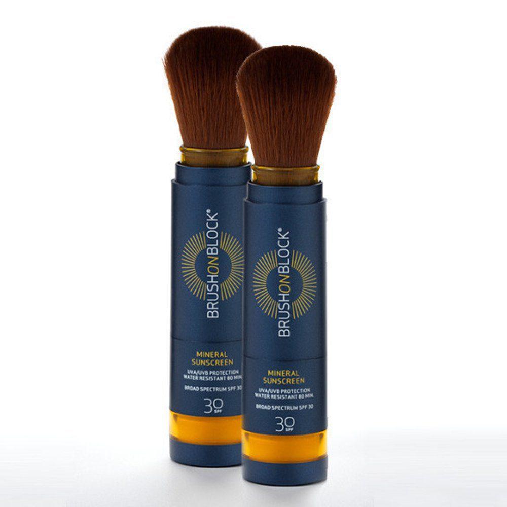Brush On Block Broad Spectrum SPF 30 Mineral Powder Sunscreen, 2 Pack