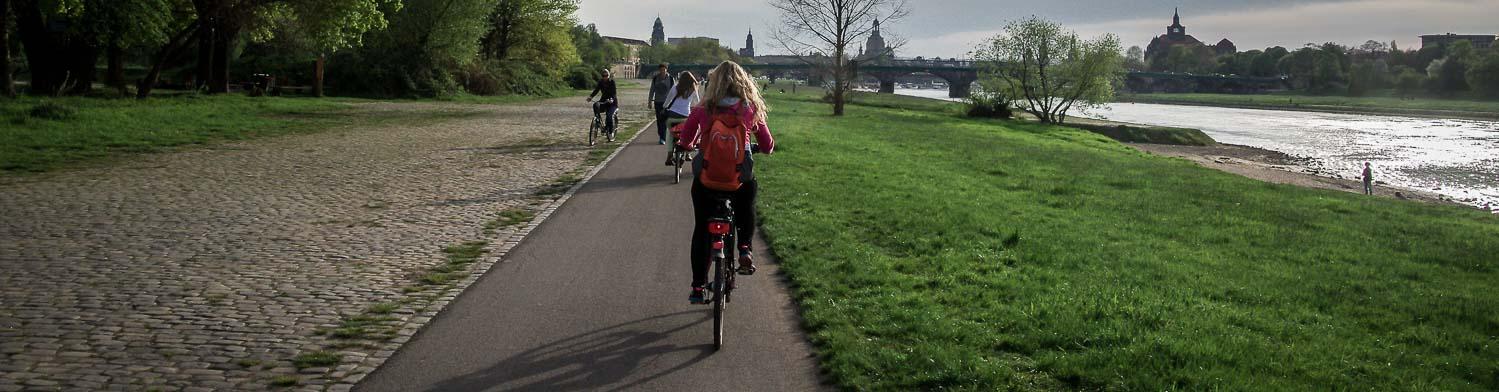 Biking In Dresden, Germany