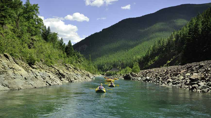 Enjoying a peaceful paddle -one of the family-friendly things to do in Glacier National Park
