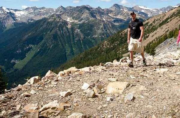 Hiking the trails at Kicking Horse Resort