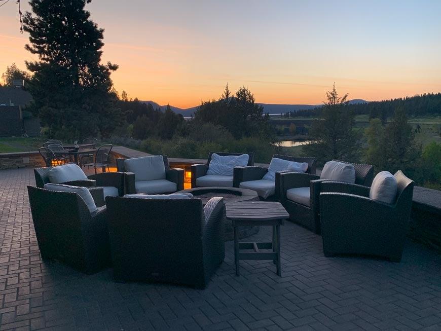 Sunset at the Running R Ranch Resort