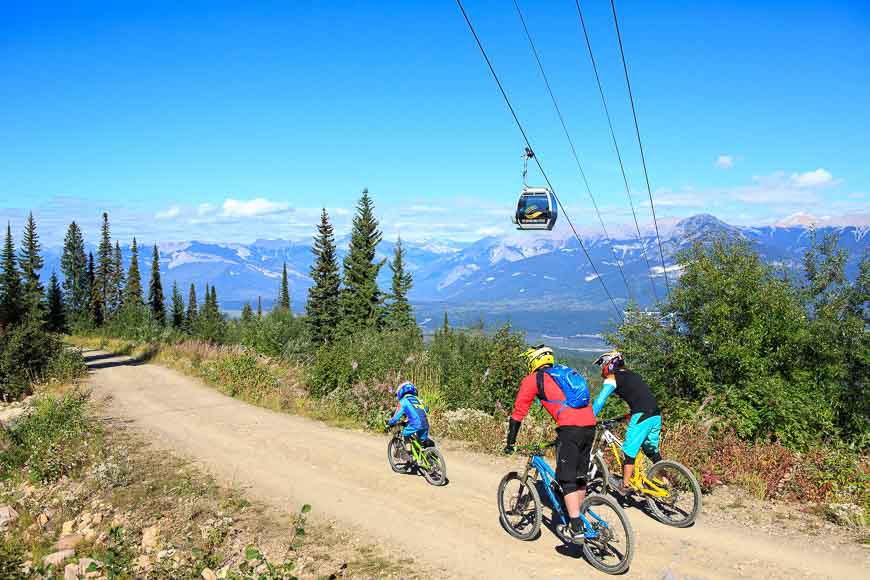 There are trails for all ages and abilities at Kicking Horse Resort