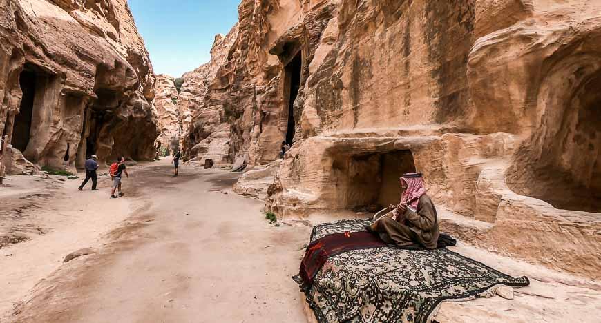 Scene from Little Petra in Jordan