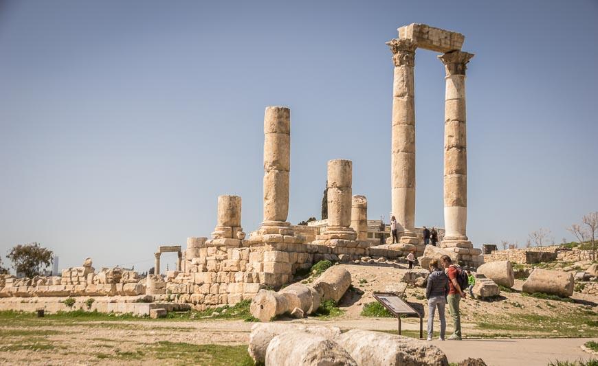 The Temple of Hercules at the Amman Citadel