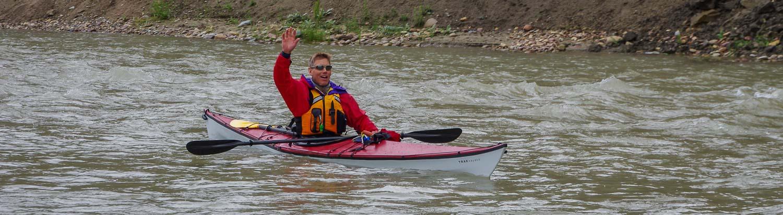 River Testing A TRAK Kayak