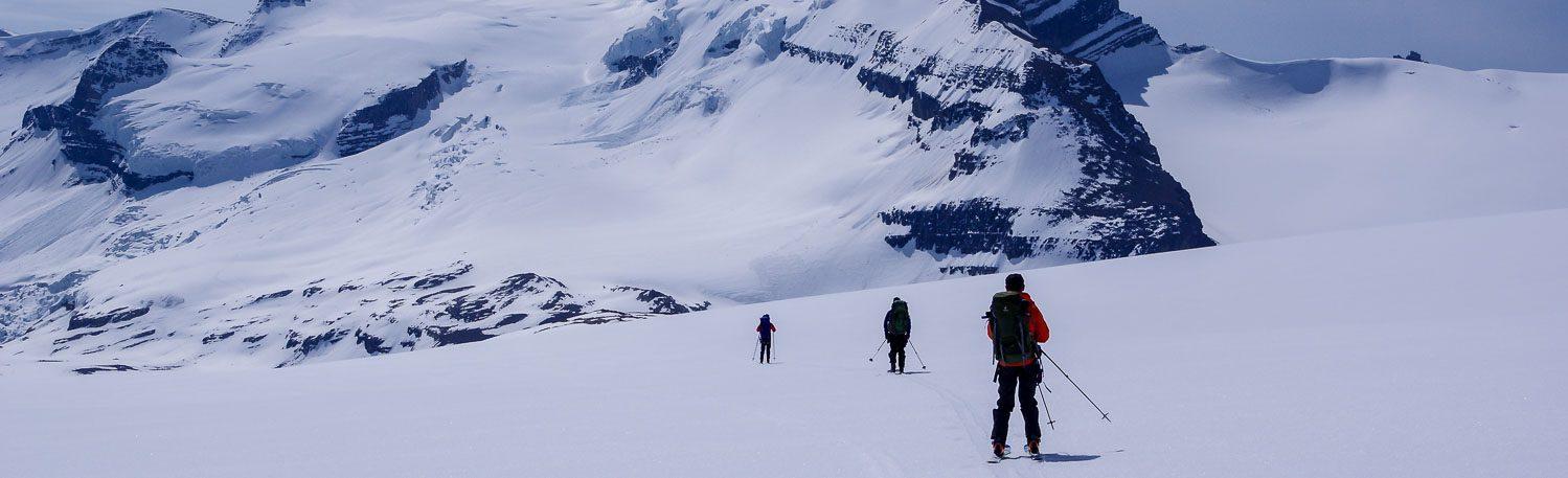 Skiing The Wapta Traverse In Alberta