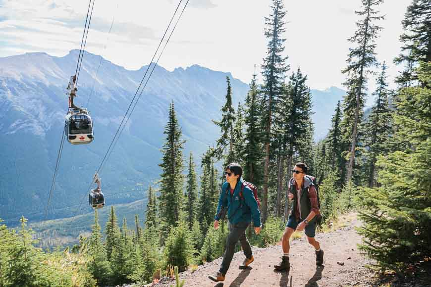 Enjoy hiking the trails at the top of the Banff Gondola