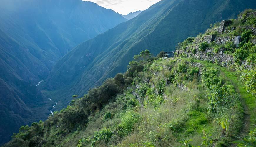 My favourite campsite sleeping on the Inca terraces