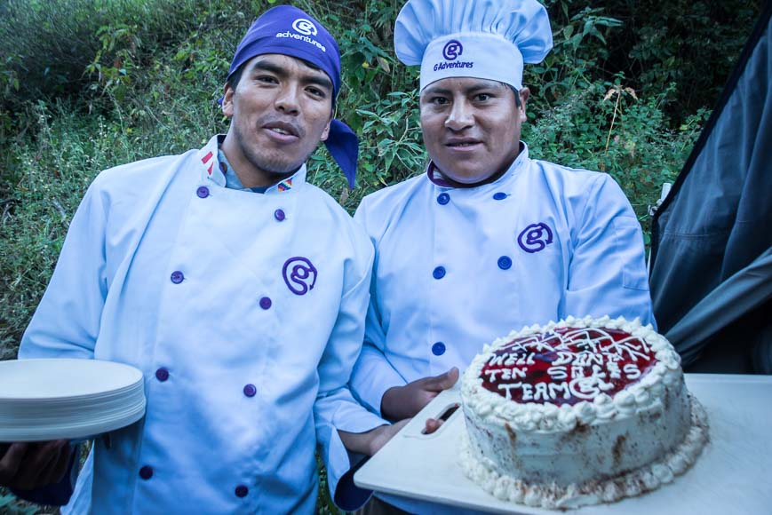 Amazed at what the cooks could whip up in the camp setting on the Choquequirao Trek