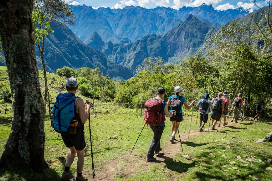 And then its steeply down, down, down on the Choquequirao Trek