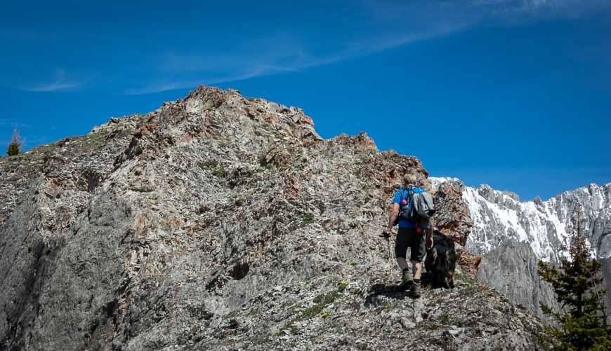 The last few feet of vertical on the King Creek Ridge trail