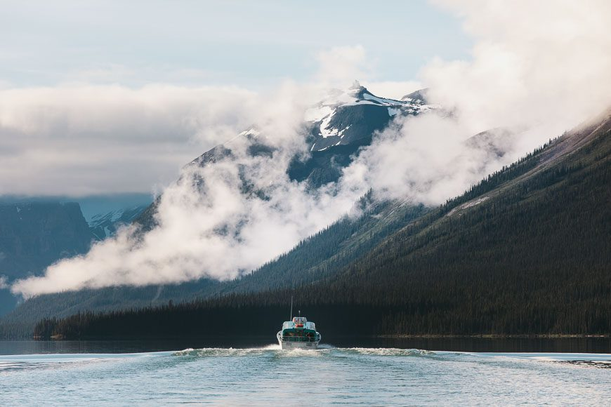 Can't beat the backdrop for this boat cruise - Photo credit: Maligne Lake Cruise by Pursuit