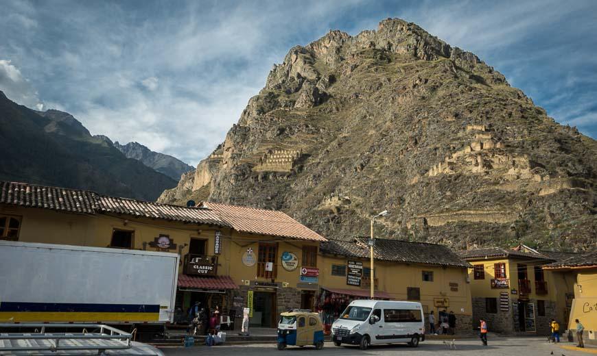 Ollantaytambo sits at 2792 m (9,160 feet) in the Sacred Valley Peru