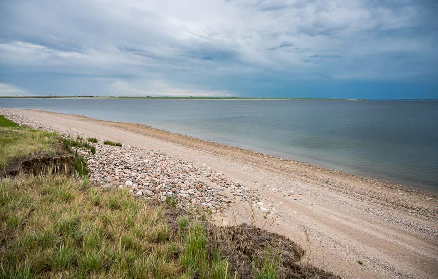Lake Diefenbaker boast over 800 km of shoreline