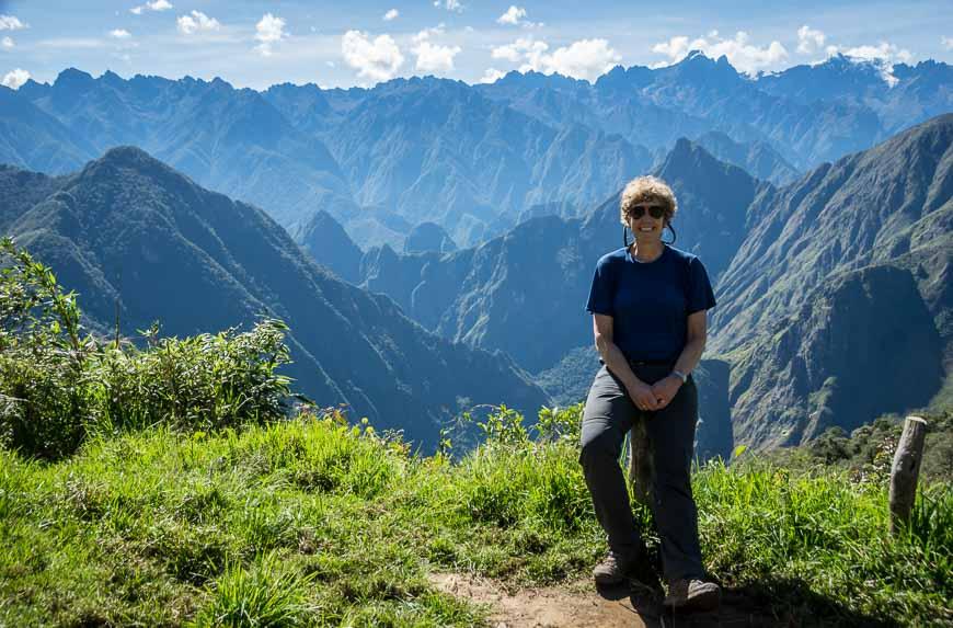 Great views of Machu Picchu behind me while on the Choquequirao trek