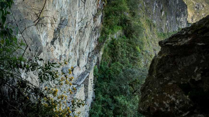 The Inka Bridge itself would be an airy walk