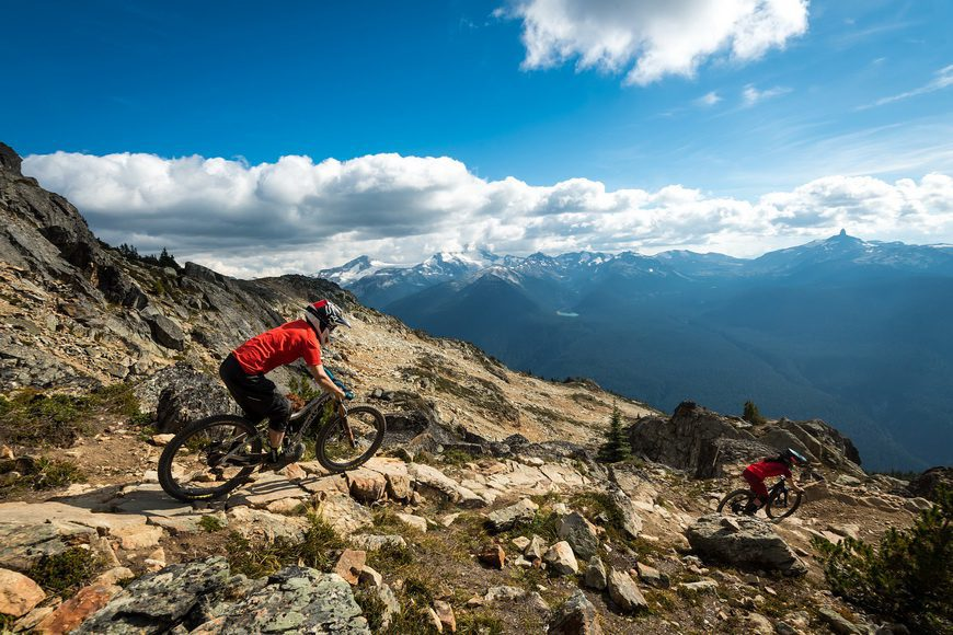 Phenomenal views mountain biking at Whistler