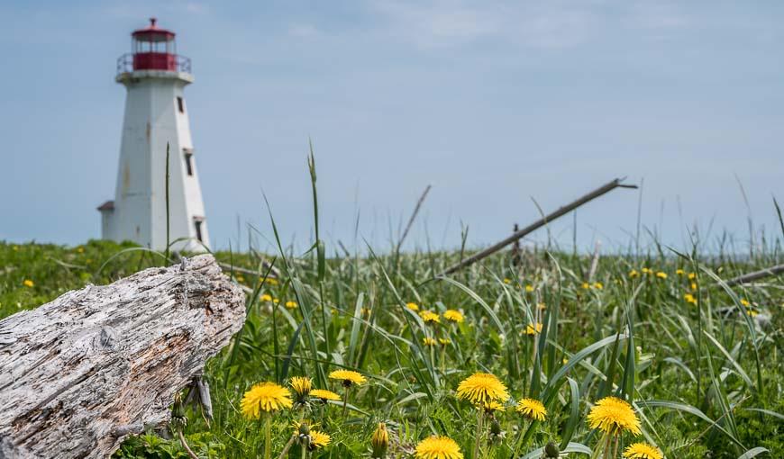 The lighthouse on Petite Ile au Marteau in Mingan Archipelago National Park