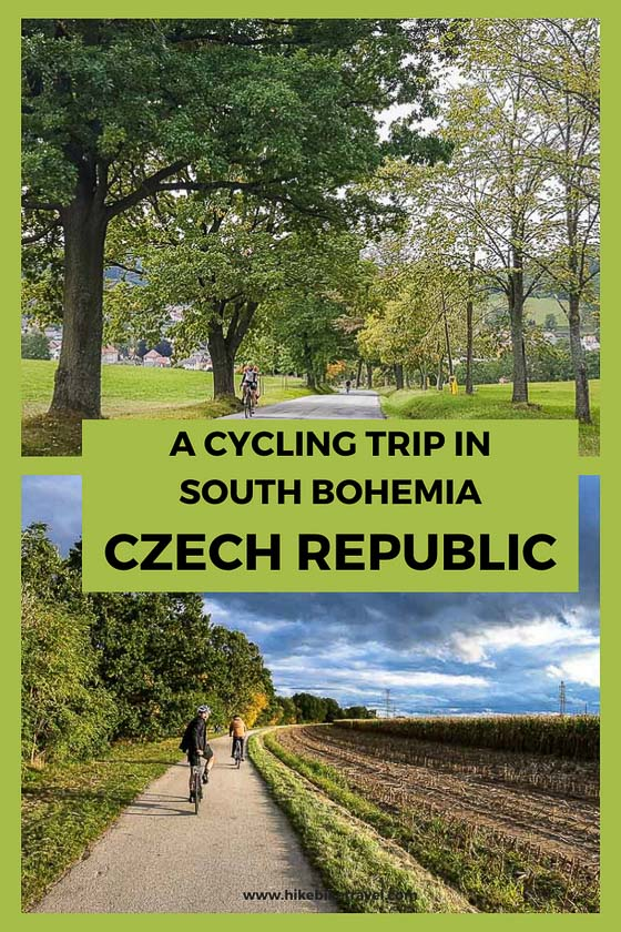 A multi-day cycling trip in South Bohemia region of Czech Republic