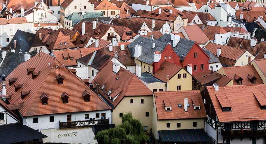 Red Roofs In Cesky Krumlov