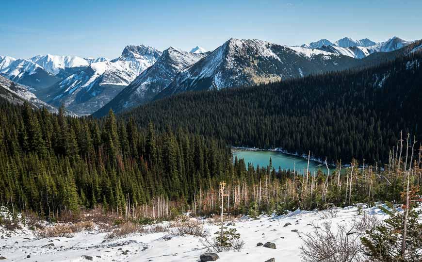 Looking back at Lillian Lake