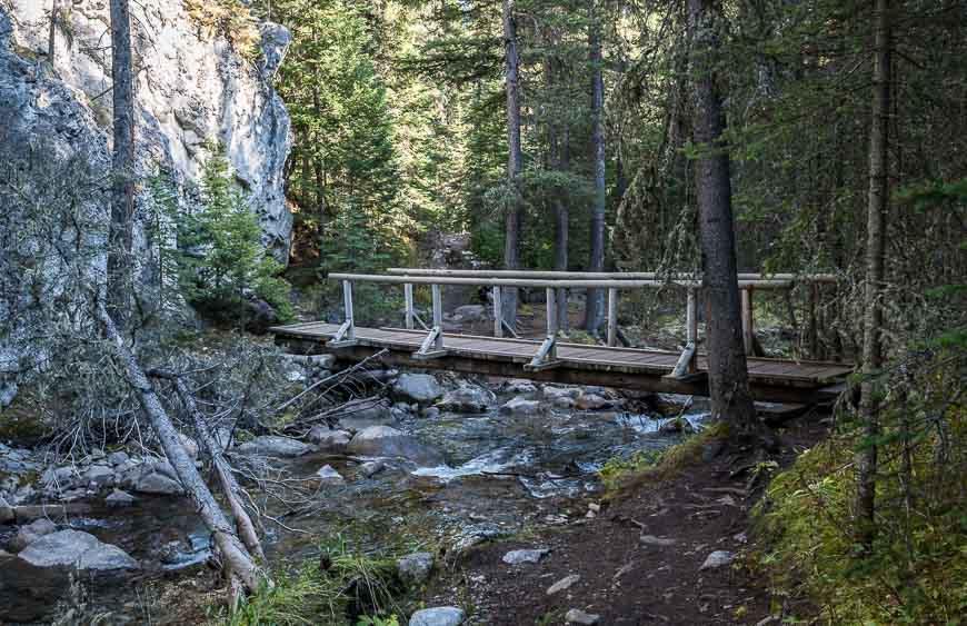 Cross many bridges on the way up to Lillian Lake